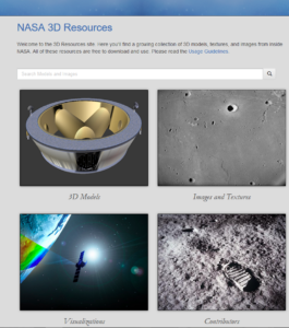 NASA Druckmodellseite